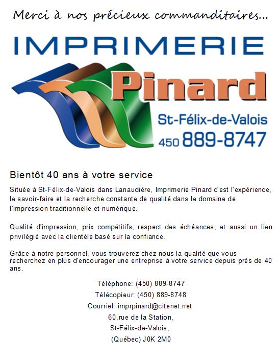 Logo de l'Imprimerie Pinard de Saint-Félix-de-Valois